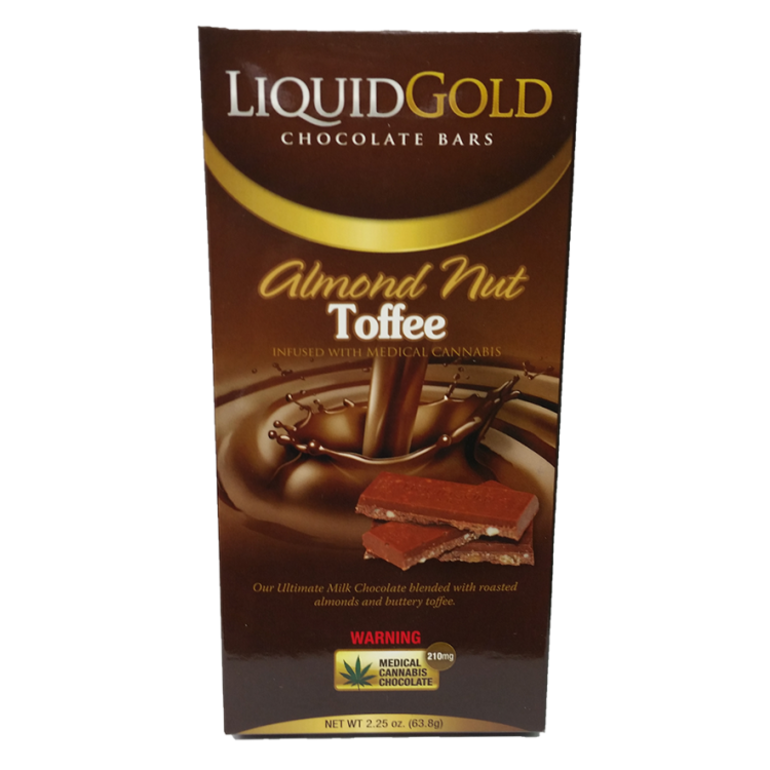 Liquid Gold 210mg: Almond Nut Toffee