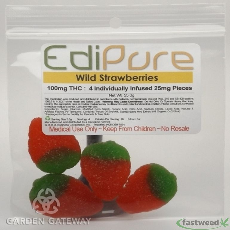 Edipure Wild Strawberry And Tropical Punch Gummies