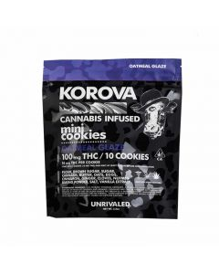 Korova Oatmeal Glaze Mini Cookies 100mg Thc