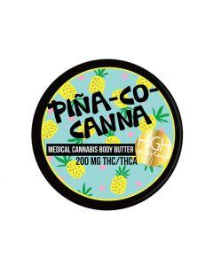 Piña-co-canna Body Butter 200mg Thc/thca