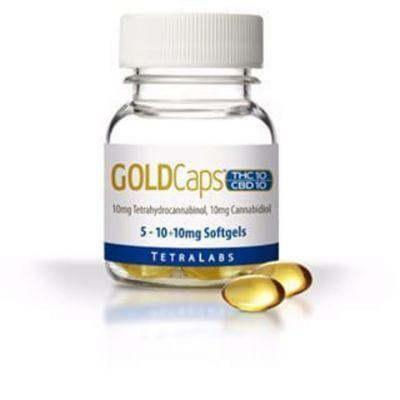 Gold Caps Thc/cbd (10+10mg)